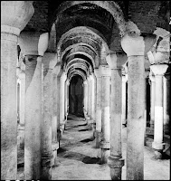 Binbirdirek Cistern, interior view, May 1937 [Credit: © Nicholas V. Artamonoff Collection, Image Collections and Fieldwork Archives, Dumbarton Oaks]