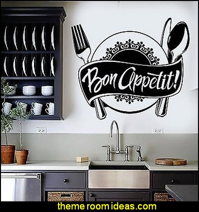 Bon Appetit Kitchen Restaurant Chef Stickers