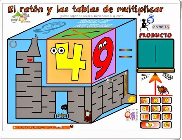 El ratón y las tablas de multiplicar Juego digital online gratis