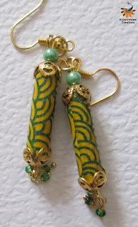 kalanirmitee: Quilling- quilled earrings-paper beads