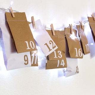 DIY upcycled advent callendar