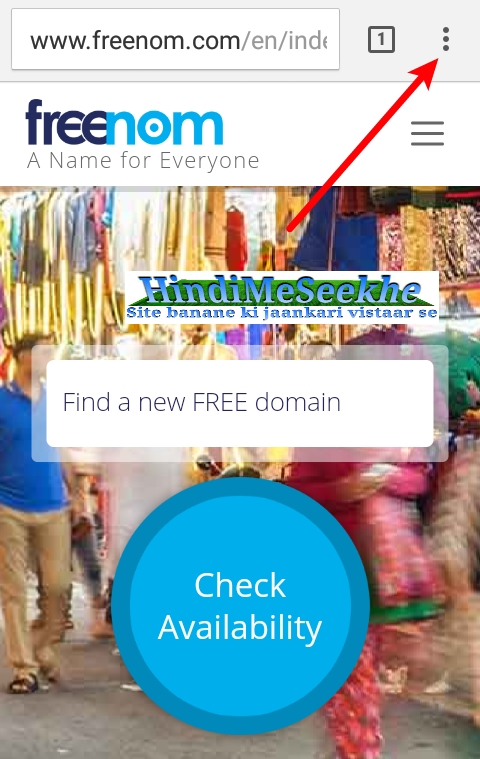 freenom-website-mobile-version