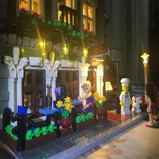 new led light kit only for lego 10243 parisian restaurant lighting