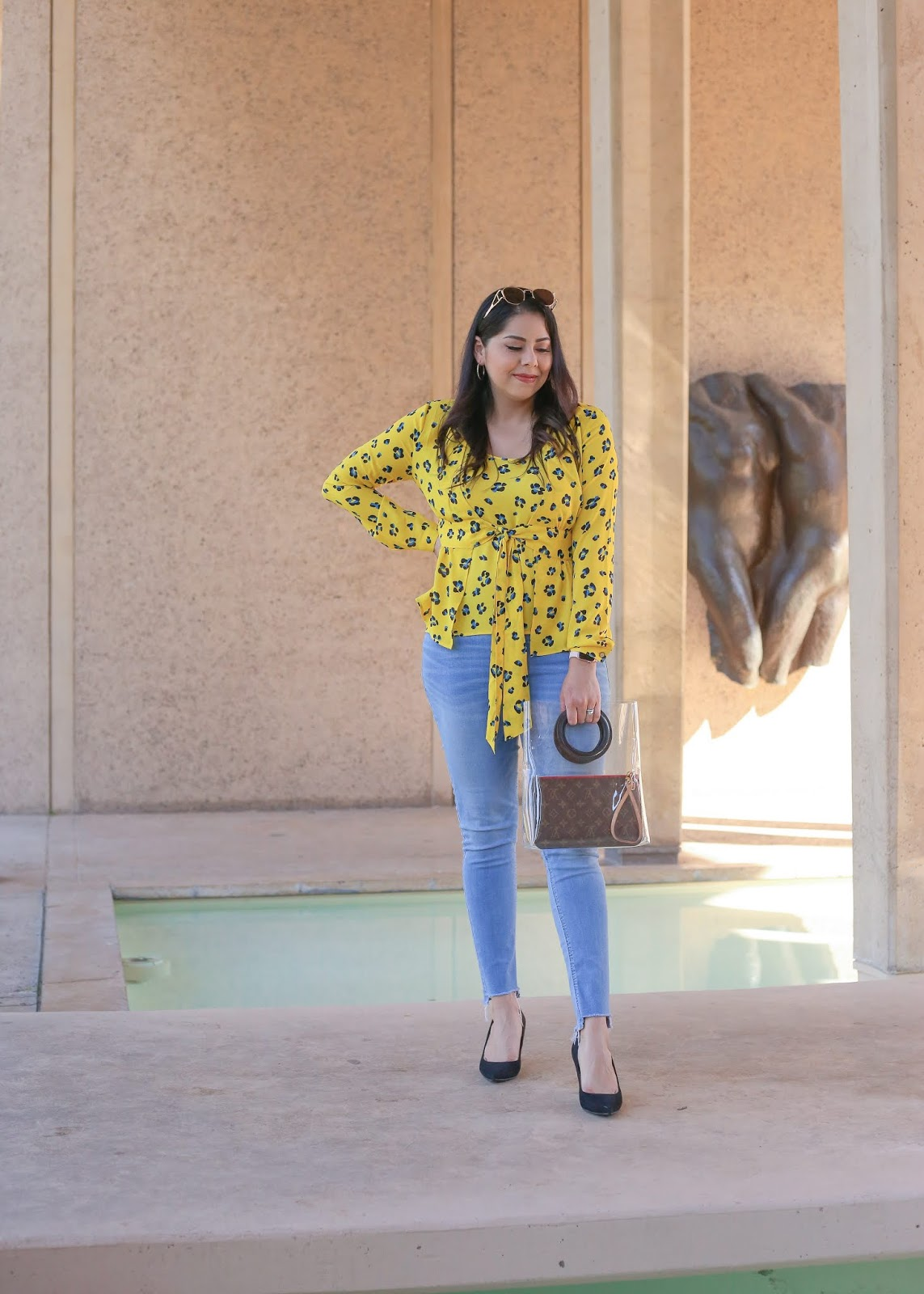 san diego fashion blogger in balboa park, panama 66 inside balboa park