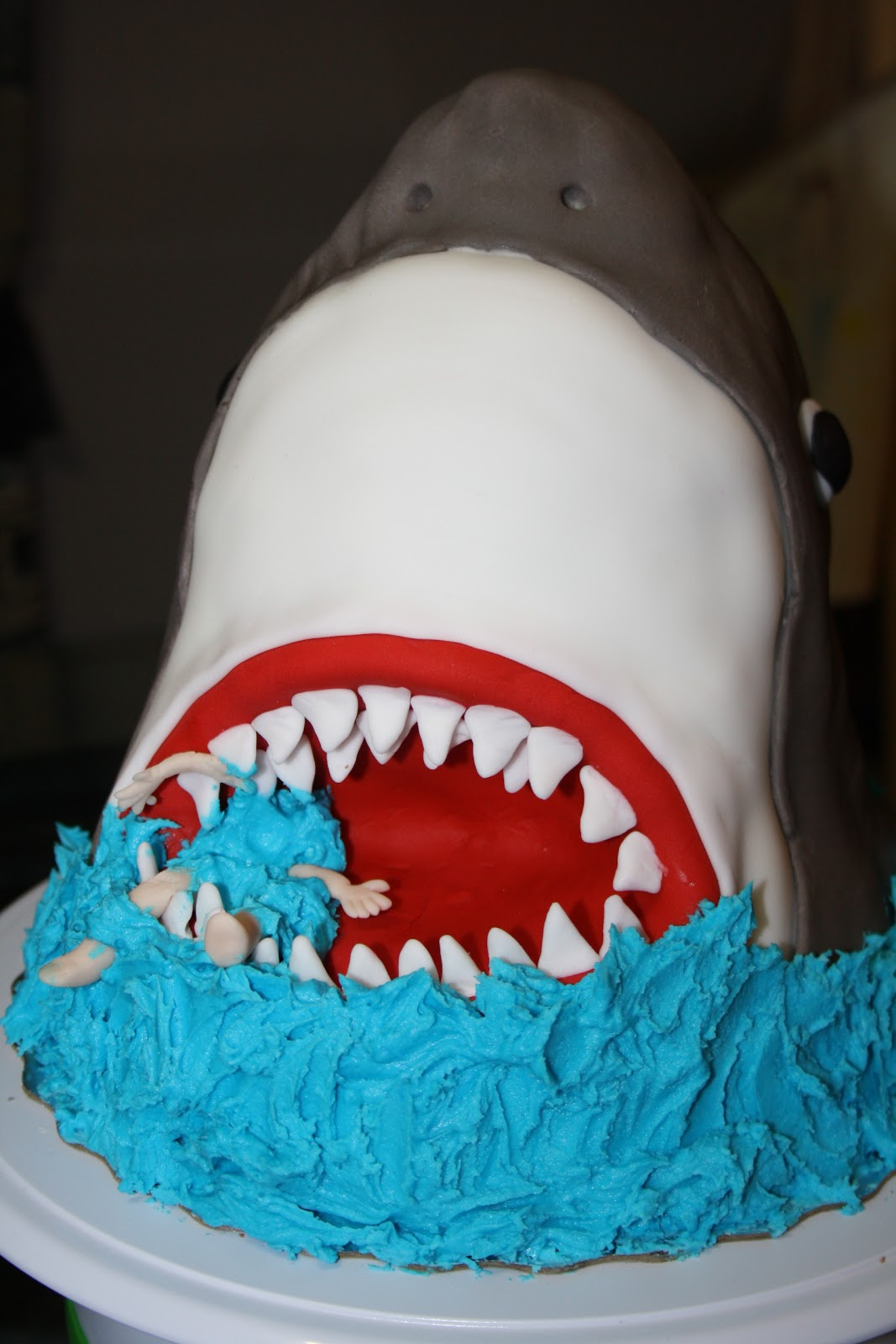 Vanilla Beans And Buttercream Shark Theme Birthday Party