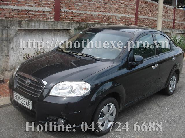 Cho thuê xe 4 chỗ Deawoo Gentra theo tháng tại Hà Nội