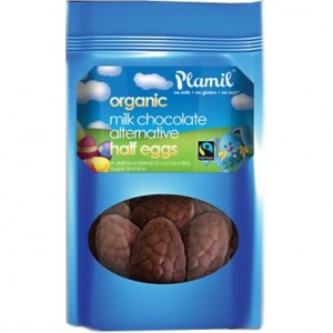 Plamil Organic Milk Chocolate Alternative Half Eggs