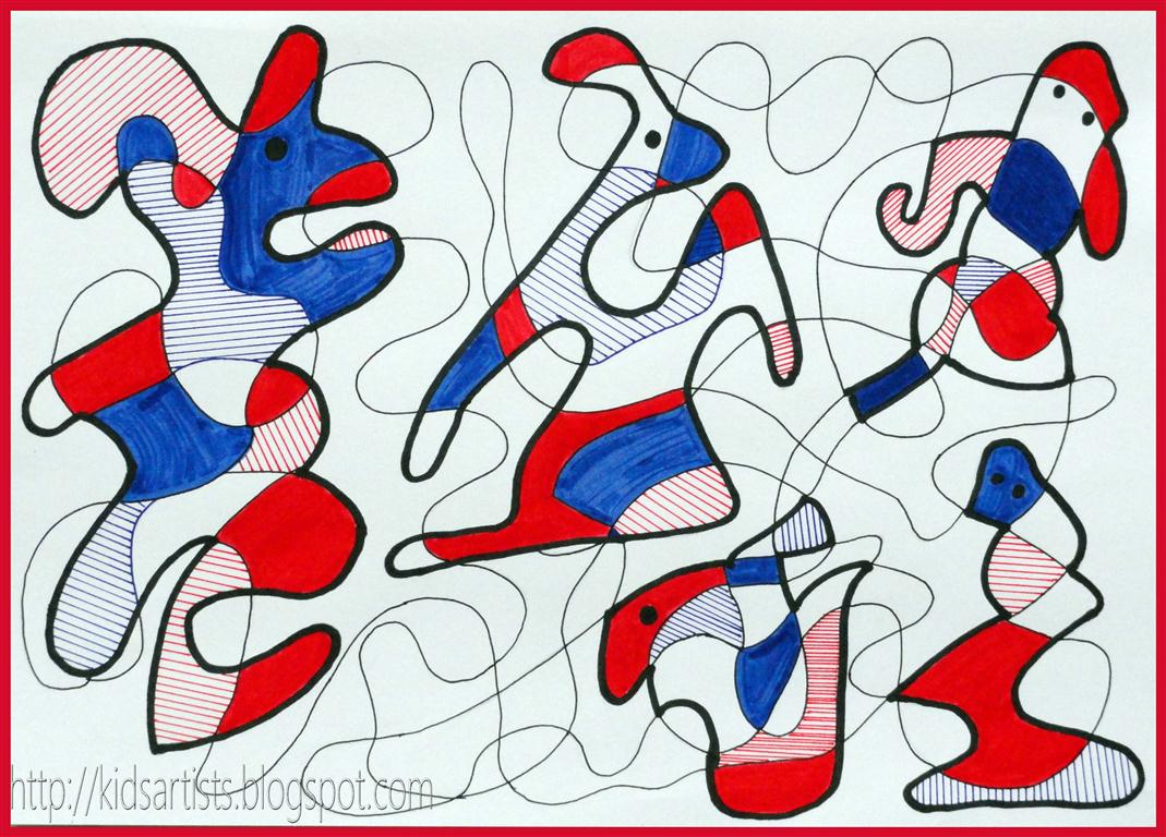 Kids Artists In The Style Of Jean Dubuffet