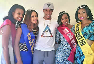BBafrica Winner Idris Sultan With Kenyan Ladies