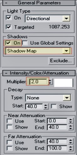 3ds max shadow map