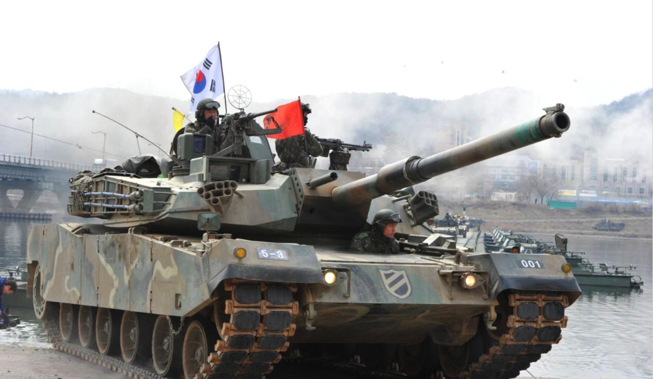 4275a49373cd South Korean K1 Main Battle Tank During Military Drill