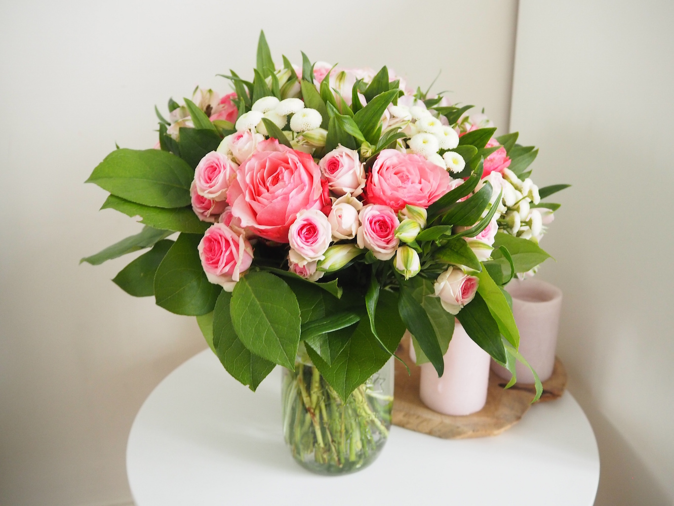 bouquet solidaire douceur rose magazine
