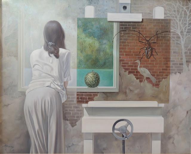 Alberto Pancorbo arte moderno hiperrealista surrealista mágica ventana animales