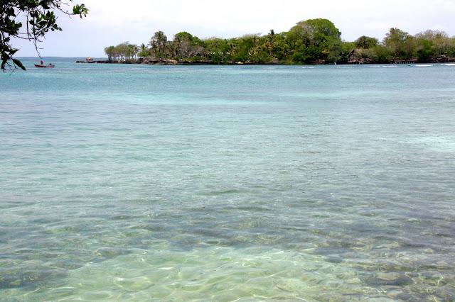 Primeiro mergulho na Isla Grande, no Caribe colombiano.