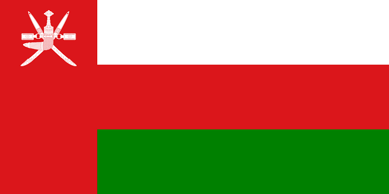 Logo Gambar Bendera Negara Oman PNG JPG ukuran 800 px