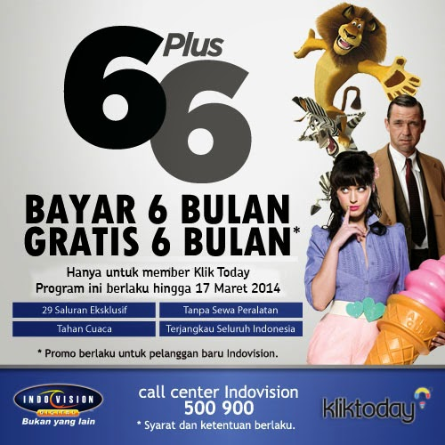 Promo Indovision Kliktoday.com Buy 6 Get 6