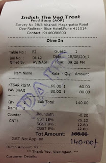 Verify GST Bill From Hotels and Restaurants