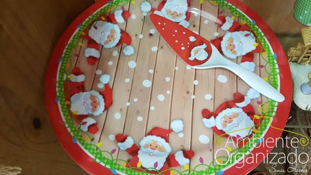 Prato de Natal para torta