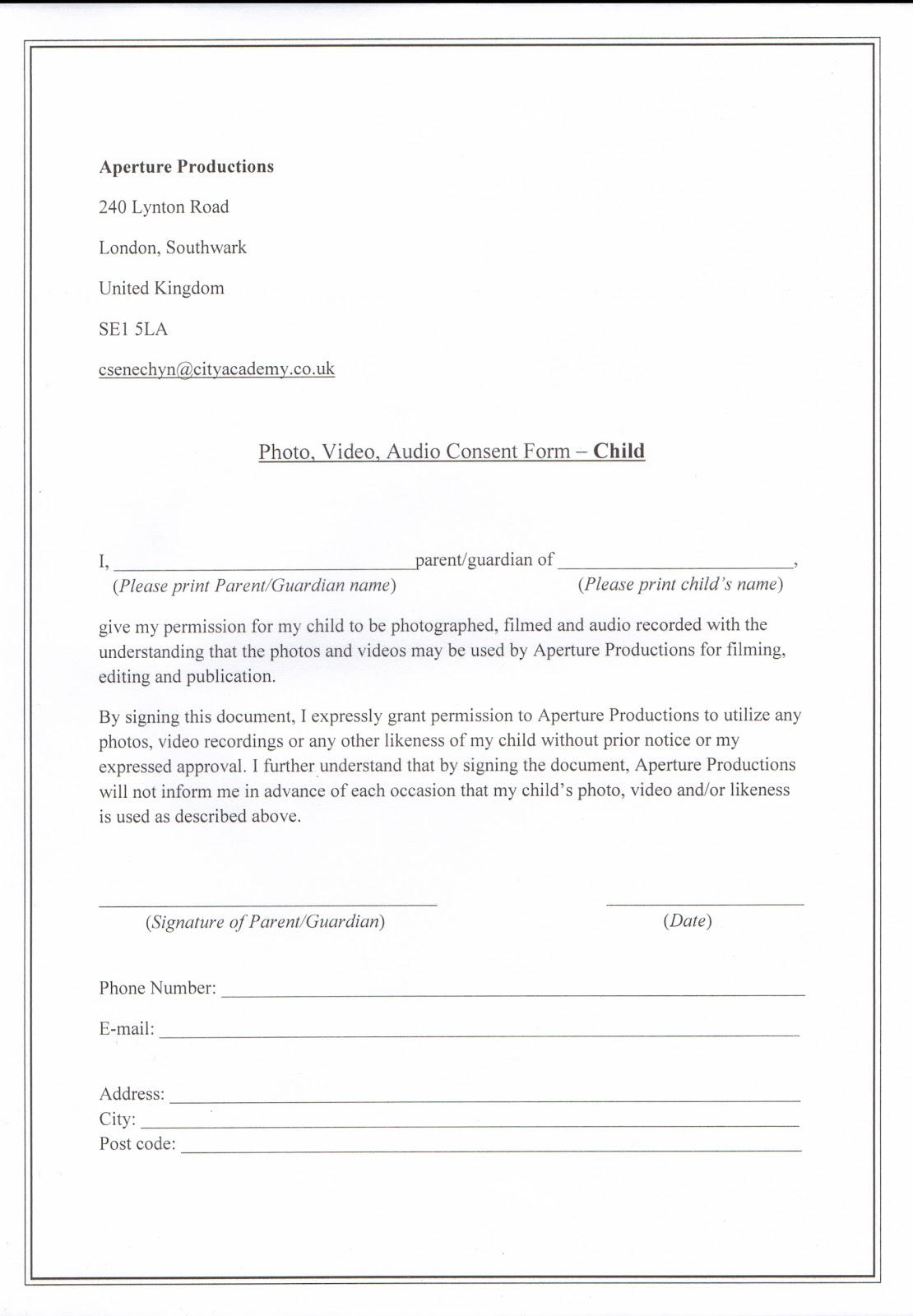 Standard consent form template images form example ideas 100 video consent form template video consent form patient photographic consent form template cover letter samples pronofoot35fo Images