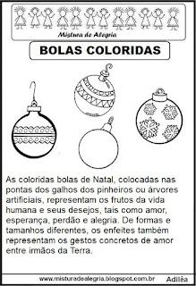 Texto sobre bolas natal