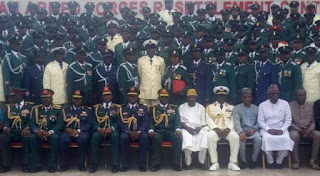 320 Nigerian soldiers retire from service after completing six months training