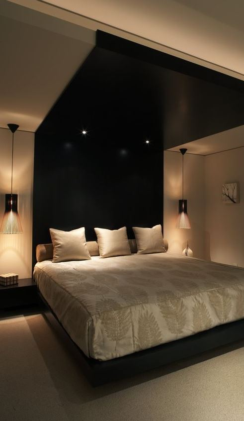 cute dark bedroom interior design idea
