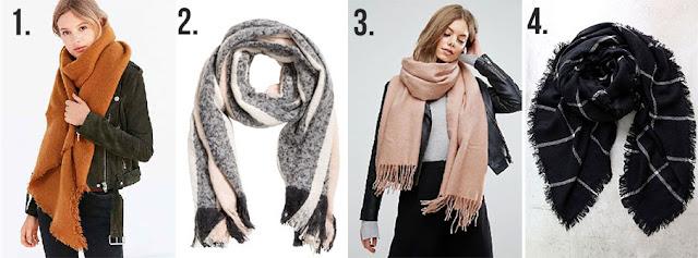 trendy stylish blanket scarves