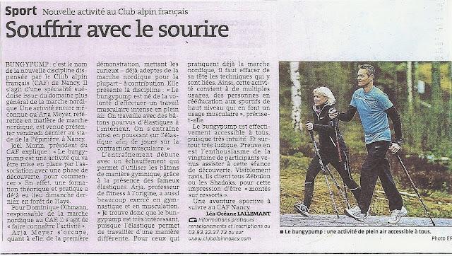 Sport Nouvelle activité au Club Alpin français - Bungy PUmp