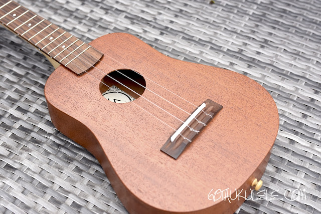 KM Ukuleles Dreadnought Concert body