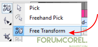 Fungsi Free Transform Tool Corel Draw