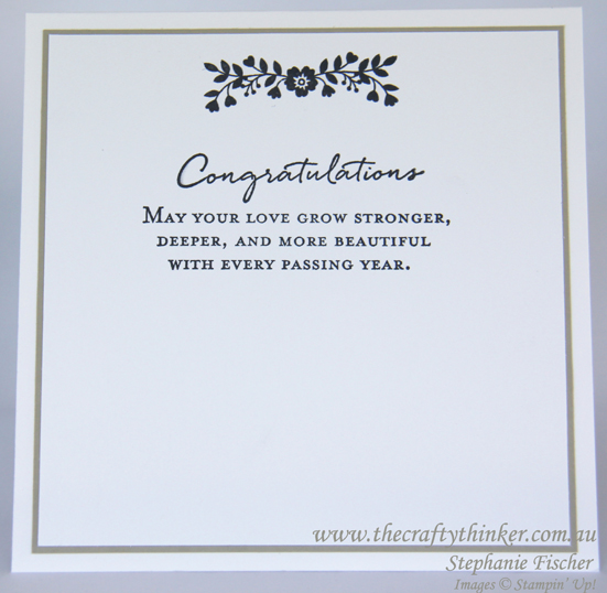 Stampin Up, #thecraftythinker, wedding card, Bloomin Love, Fancy Frost, Bloomin Heart, Stampin Up Australia Demonstrator