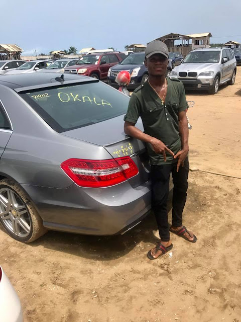 WOW! Internet Marketer Innocent Okoduwa Welcomes Another Mercedes Benz 4Matic After He Launched His Toyota Camry