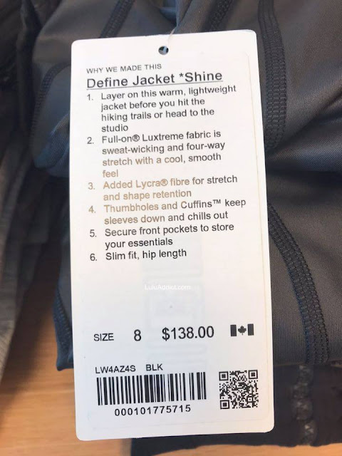 lululemon Shine-define