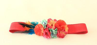 PV 2018 Naranja multicolor Cinturon elastico floral