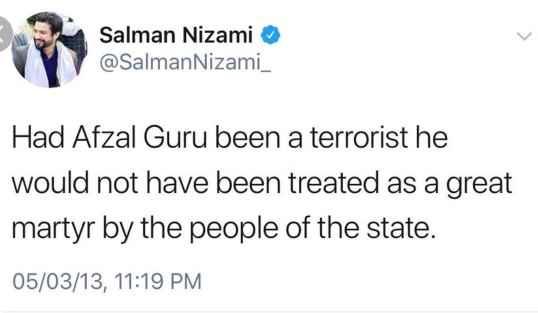 salman-nizami-is-afzal-guru-supporter