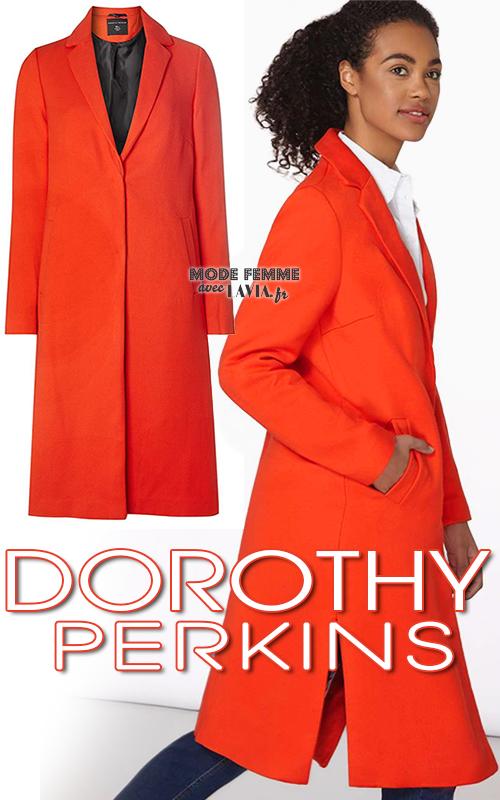 Manteau femme rouge type boyfriend DOROTHY PERKINSS