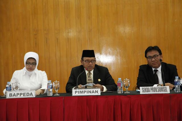 Pemprov Sinergikan Prioritas Pembangunan 2019 Bersama Pokir DPRD Sumsel