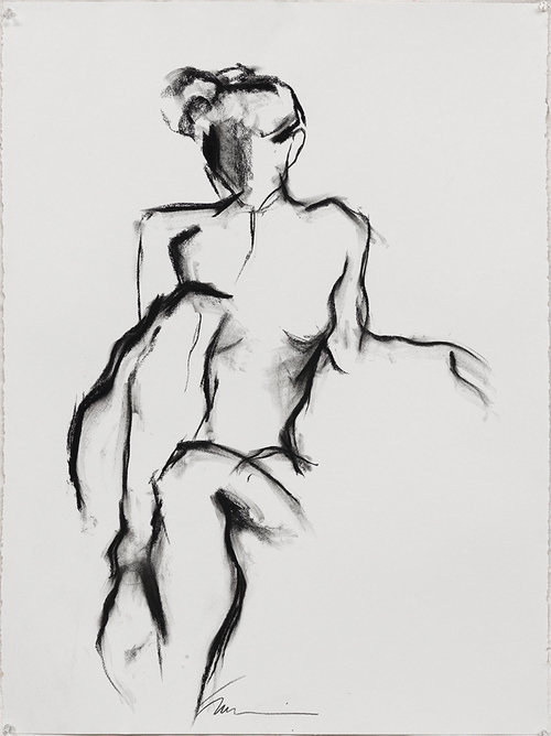 Charcoal nude by Francine Turk on Hello Lovely Studio