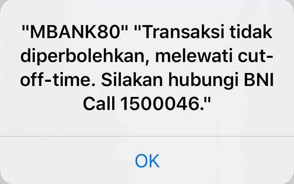 Solusi Mengatasi MBANK80 di BNI Mobile Banking