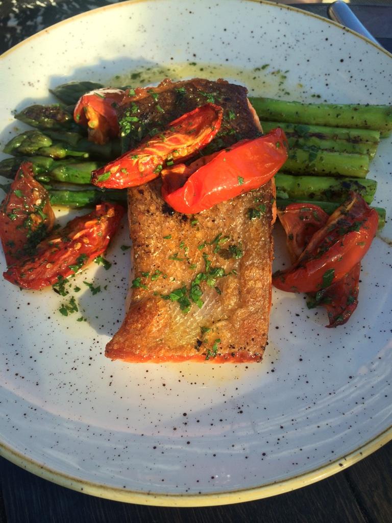sea trout asparagus