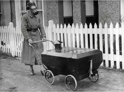 This stroller that would protect babies from gas (1938).