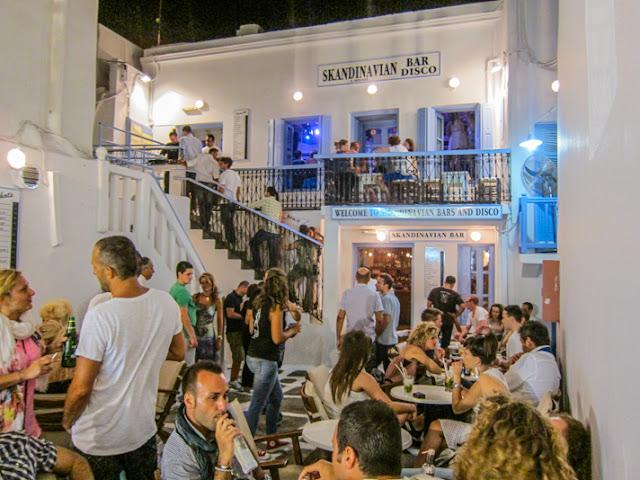 Bares românticos em Mykonos