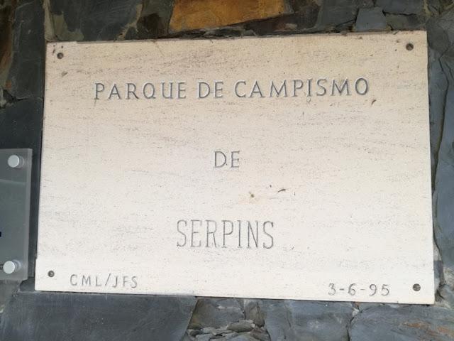 Placa Parque Campismo Serpins