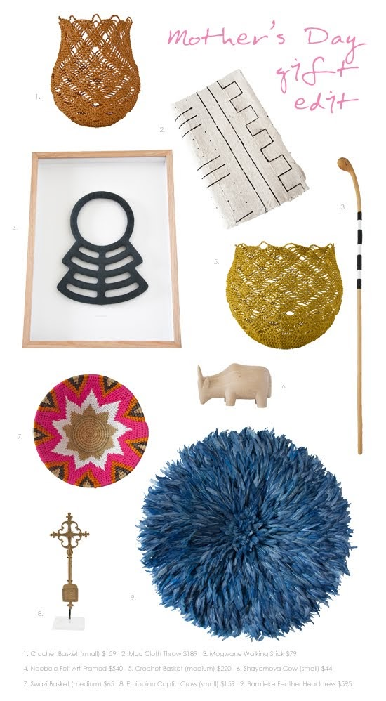 Safari Fusion blog >< Mother's Day gift edit | Gift ideas for those who seek original handcrafted pieces that tell a story