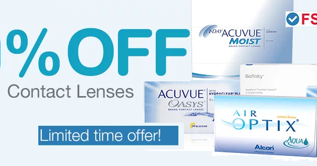 30% off Contact Lenses + Free Shipping + Extra $10 Off ...