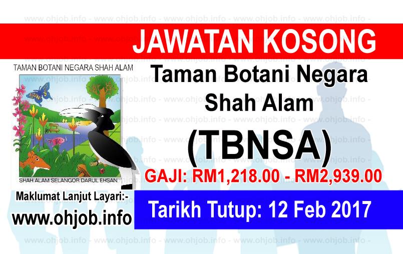 Jawatan Kerja Kosong Taman Botani Negara Shah Alam (TBNSA) logo www.ohjob.info februari 2017