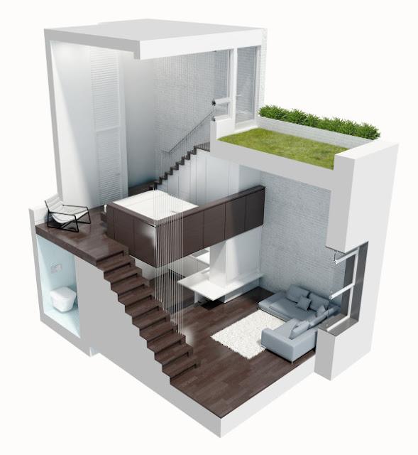проект компактного дома на два этажа