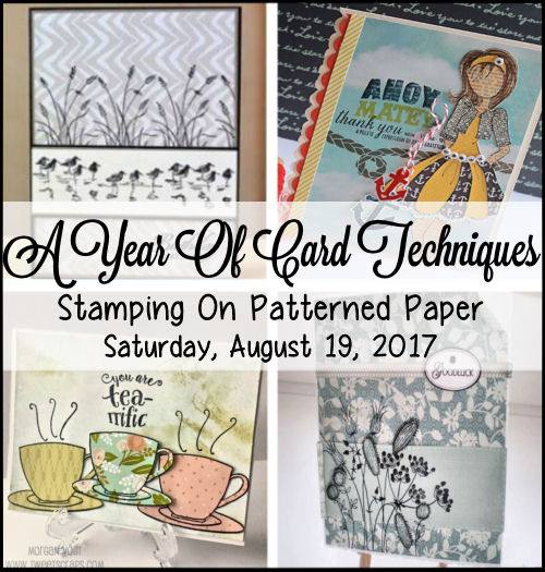Stamping on Patterned Paper