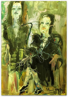 Iberê Camargo - Retrato (Jane e Mariza) (1987) - óleo sobre tela