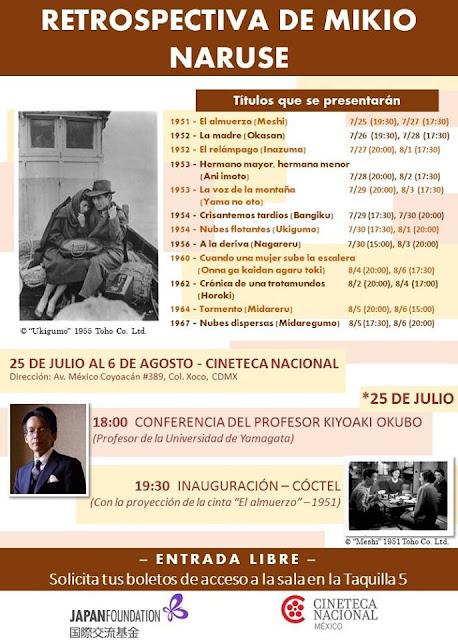 Retrospectiva de Mikio Naruse en la Cineteca Nacional